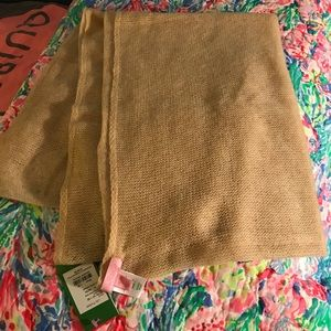 Lilly Pulitzer cashmere wrap light tan NWT